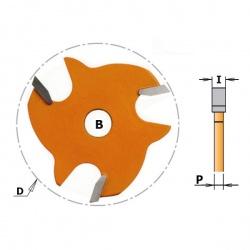 Griovelio frezavimo diskas 2,4 mm