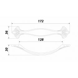 RS453MBSN.3/128 - baldų rankenėlė CODA