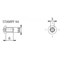 Винт М4*6 STAMPF 94 (шестигранник)